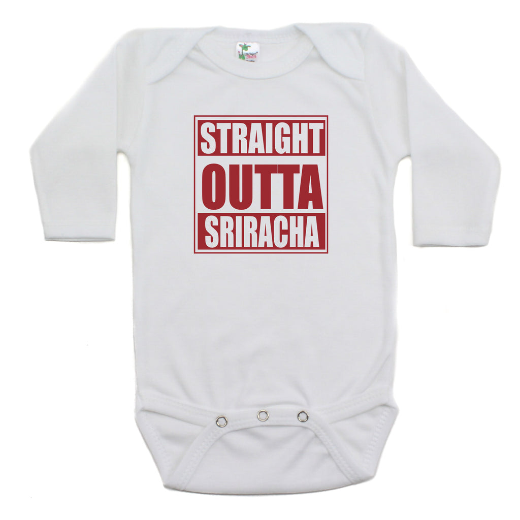 Straight Outta Sriracha Long Sleeve Bodysuit