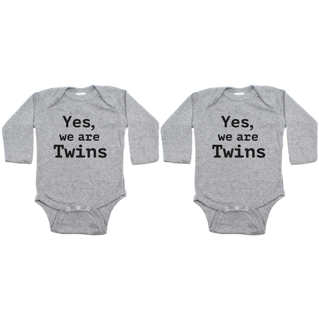 Twin Set Yes, We are Twins Sleeve Infant Bodysuit
