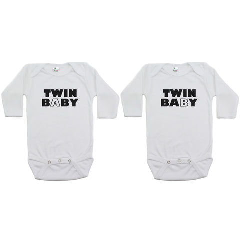 Twin Set Twin Baby Sleeve Infant Bodysuit