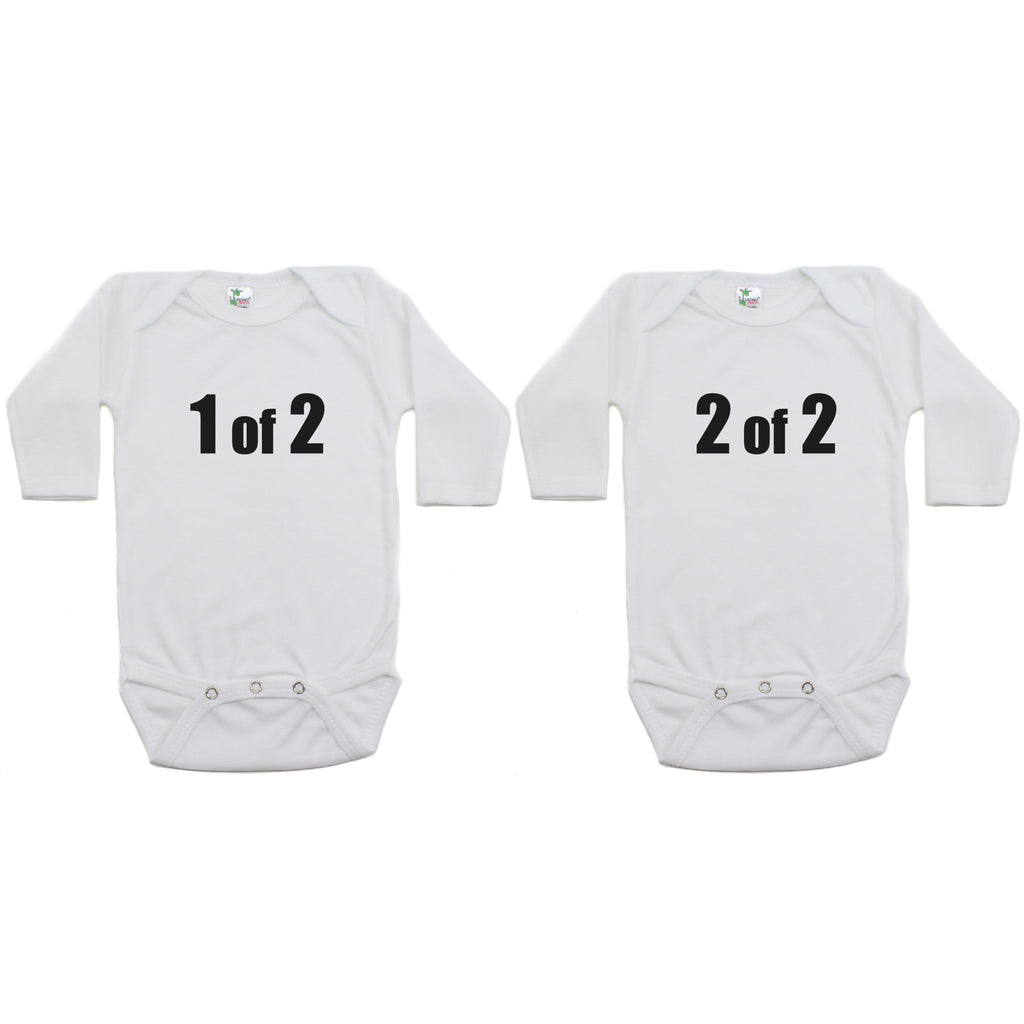 Twin Set 1 of 2, 2 of 2 Sleeve Infant Bodysuit