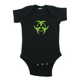 Biohazzard Warning Symbol Short Sleeve Infant Bodysuit