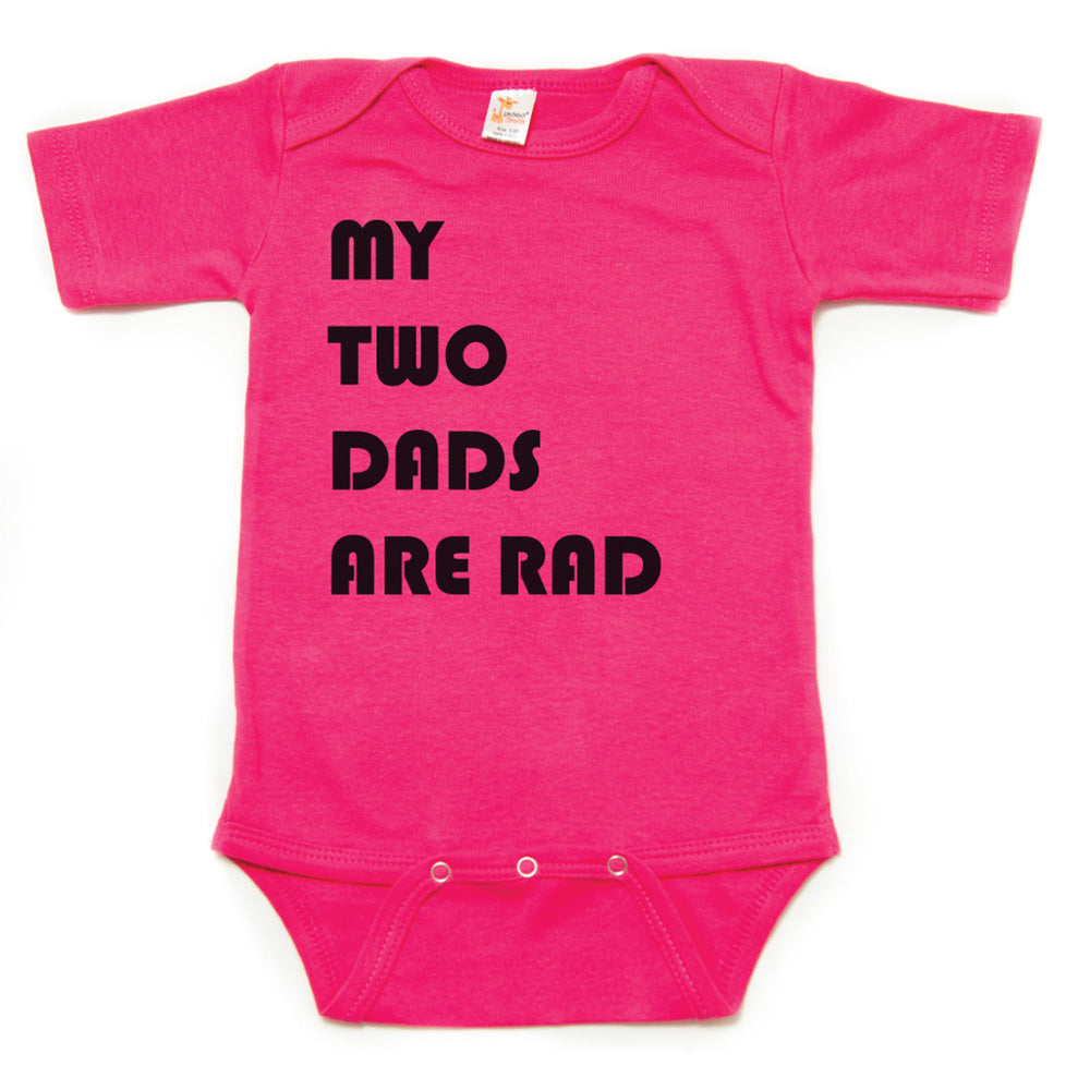 8c18eb7c ... Father's Day My Two Dads Are Rad Short Sleeve Infant Bodysuit ...