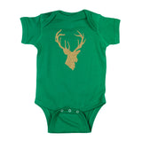 Deer Head Hunting Buck Short Sleeve Cotton Bodysuit