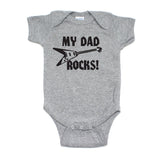Father's Day My Dad Rocks! Guitar Short Sleeve Infant Bodysuit