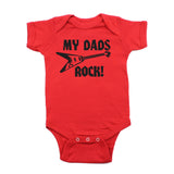 Father's Day My Dads Rock! Guitar Short Sleeve Infant Bodysuit