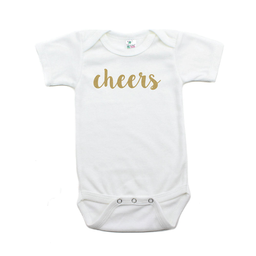 New Years Cheers Short Sleeve 100% Cotton Bodysuit