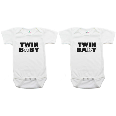 Twin Set Twin Baby Short Sleeve Infant Bodysuit