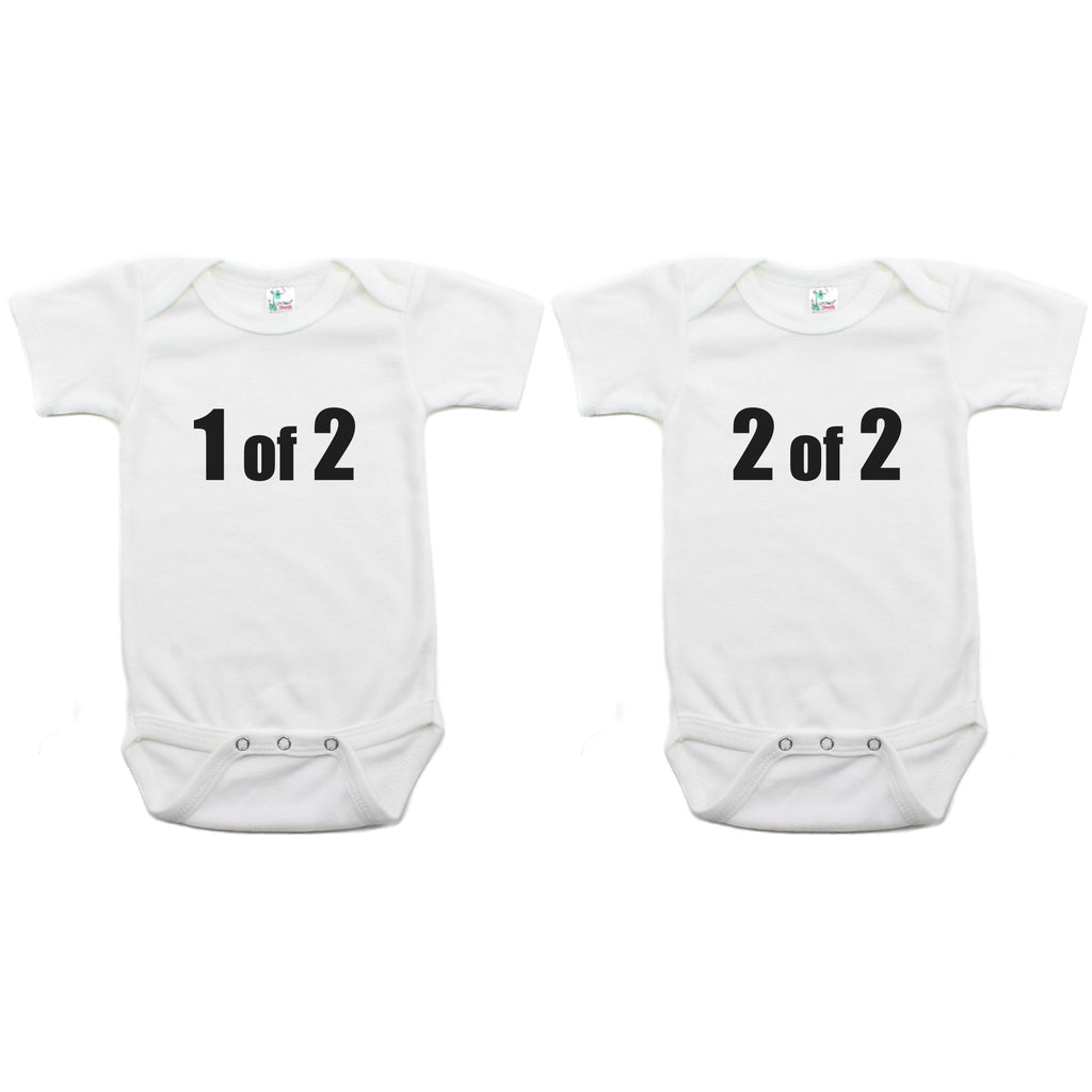 Twin Set 1 of 2, 2 of 2 Short Sleeve Infant Bodysuit