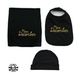 Miss Month Beanie, Blanket, and Bib Gift Set