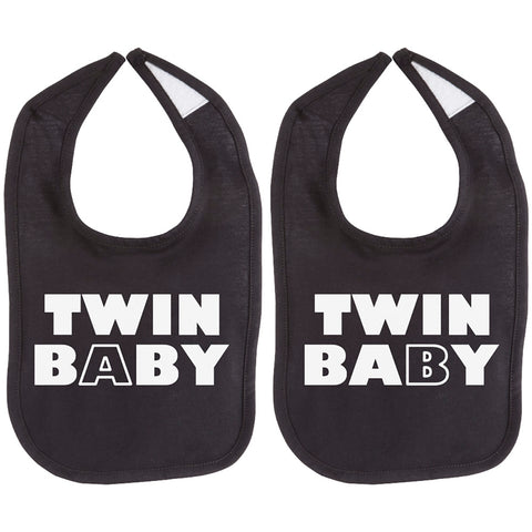 Twin Baby Twin Set Unisex Newborn Baby Soft 100% Cotton Bibs