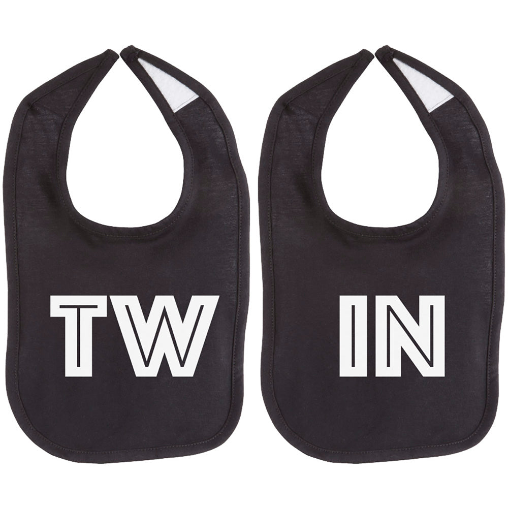 TW-IN Twin Set Unisex Newborn Baby Soft 100% Cotton Bibs