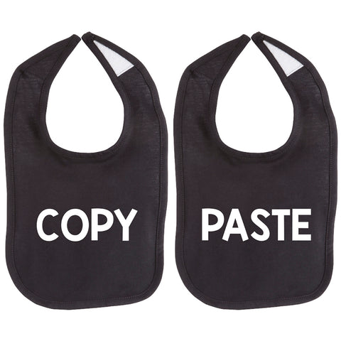 Copy Paste Twin Set Unisex Newborn Baby Soft 100% Cotton Bibs