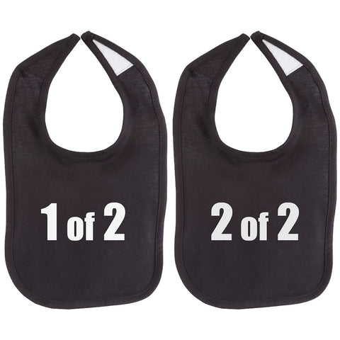 1 of 2 and 2 of 2 Twin Set Unisex Baby Soft 100% Cotton Bibs