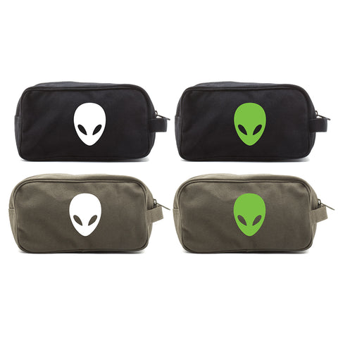 Sci-Fi Alien Head Canvas Mini Baby Changing Bag Travel Diapering Essentials Kit