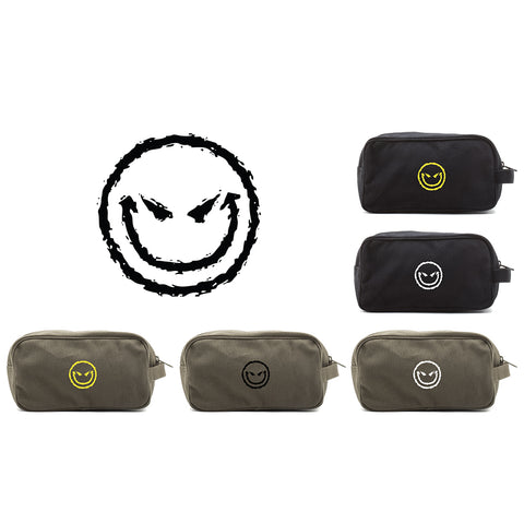 Evil Smiley Face Mini Baby Changing Bag Travel Diapering Essentials Kit