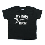 Father's Day My Dads Rock! Guitar Toddler Short Sleeve T-Shirt