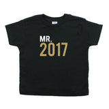 New Years Mr. 2017 Toddler Short Sleeve Cotton T-Shirt