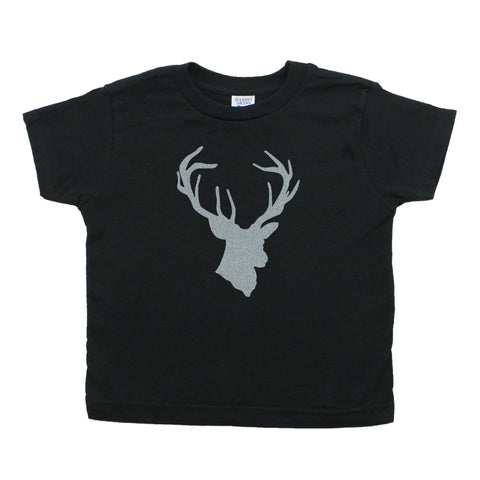 Crazy Baby ClothingDeer Head Hunting Buck Toddler Short Sleeve Cotton T-Shirt
