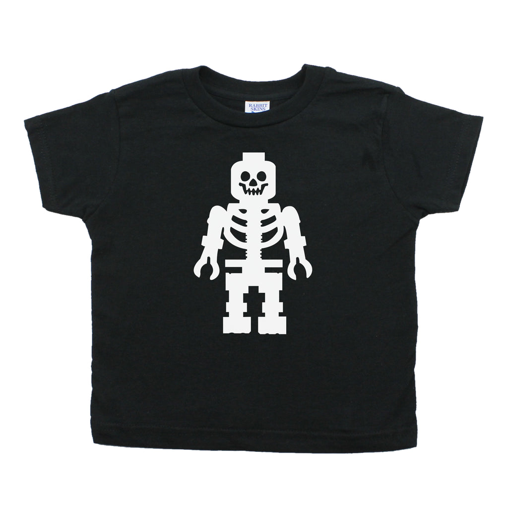 Lego Man Skeleton Toddler Short Sleeve T-Shirt