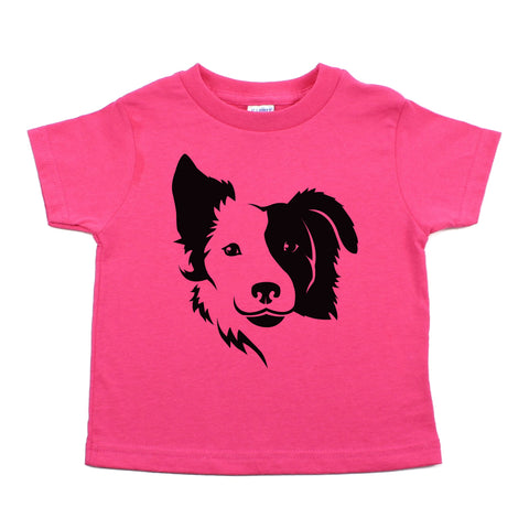 Border Collie two Face Toddler Short Sleeve T-Shirt