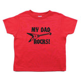 Father's Day My Dad Rocks! Guitar Toddler Short Sleeve T-Shirt