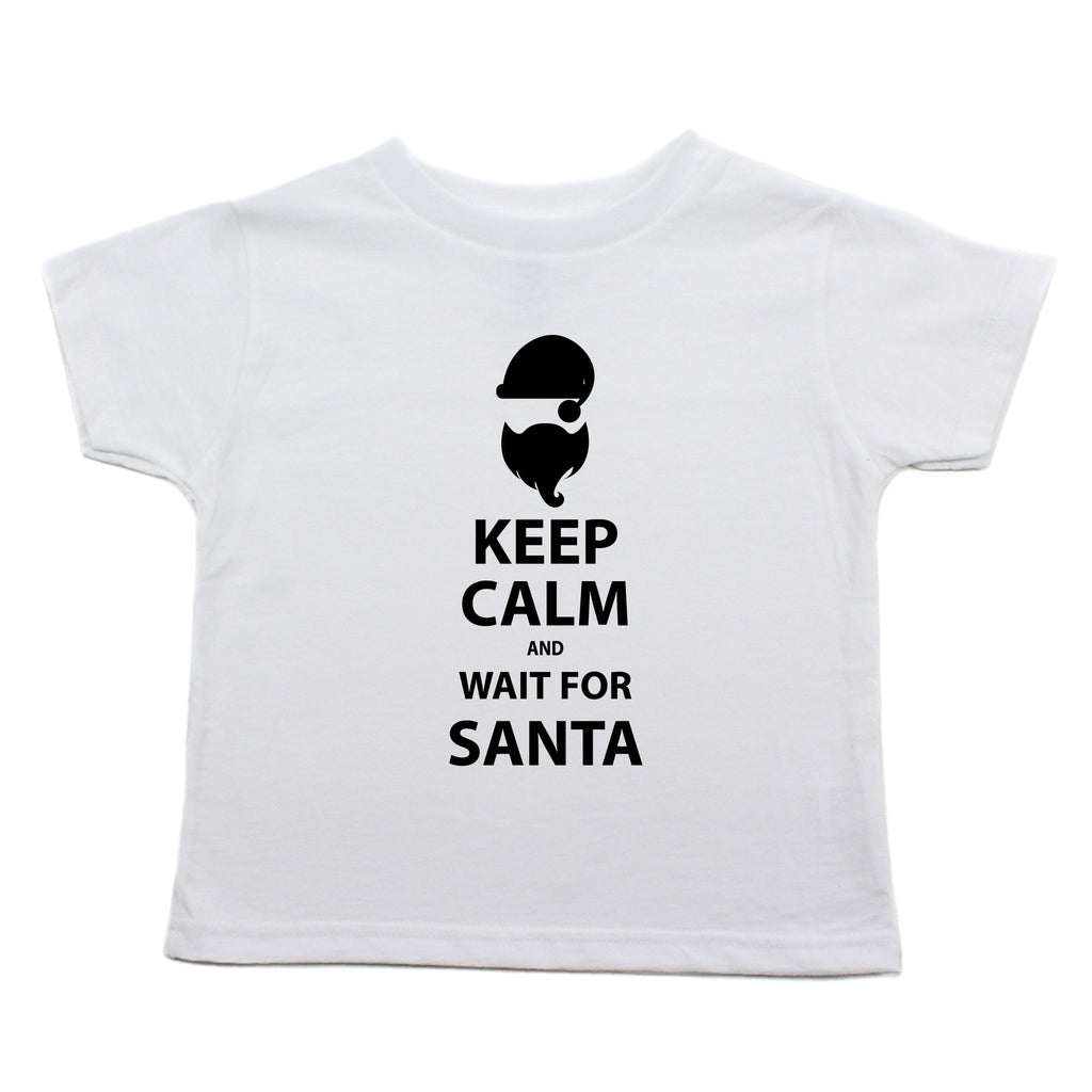 Christmas Keep Calm And Wait For Santa Toddler T-Shirt
