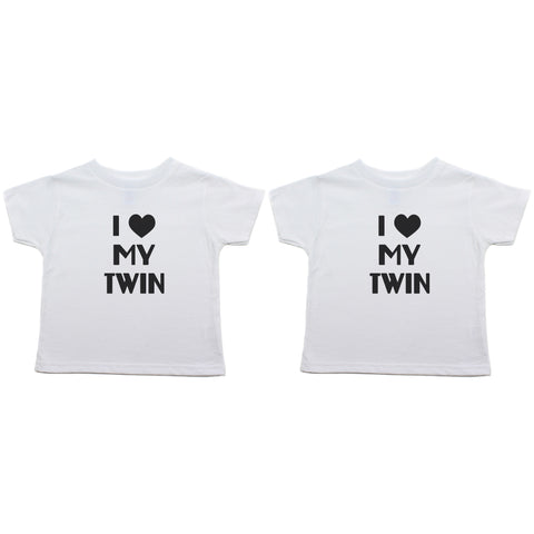Twin Set I Love My Twin Toddler Short Sleeve T-Shirt
