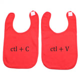 Black Copy/Paste(Ctl) Twin Set Unisex Newborn Baby Soft Cotton Bib