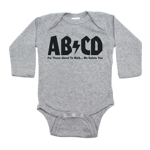 Rock N Roll ABCD Retro Rocker Long Sleeve Baby Infant Bodysuit