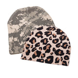 Infant Baby 100% Cotton Knit Beanie Cap Hat Camo Pack of 2
