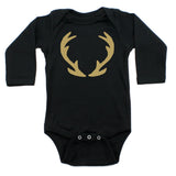 Christmas Solid Deer Antlers Long Sleeve Infant Bodysuit