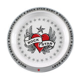Rock Star Baby Heart and Wings Dinnerware 3 Piece Gift Set