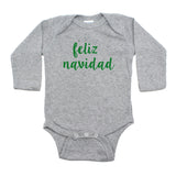 Christmas Feliz Navidad Winter Long Sleeve Infant Bodysuit