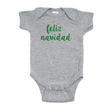 Christmas Feliz Navidad Winter Short Sleeve Infant Bodysuit
