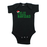 Christmas Feliz Navidad Santa Hat Short Sleeve Infant Bodysuit
