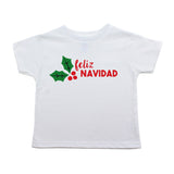 Christmas Feliz Navidad Mistletoe Short Sleeve Toddler T-Shirt