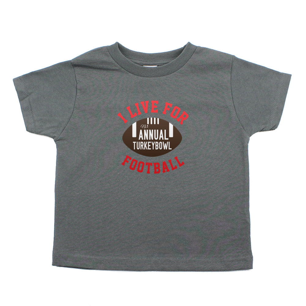 Thanksgiving Turkey Bowl Toddler Short Sleeve T-Shirt