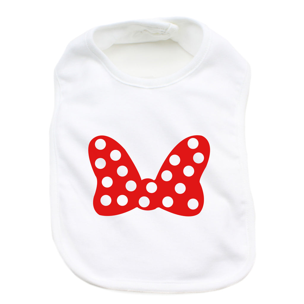 Minnie Mouse Bow 100% Cotton Unisex Baby Bib