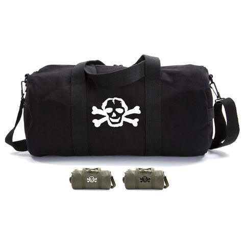 Scribble Skull Heavyweight Canvas Duffel Bag