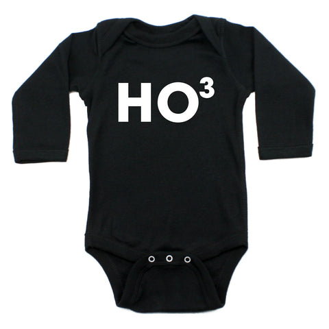 Christmas Ho Ho Ho Winter Long Sleeve Infant Bodysuit