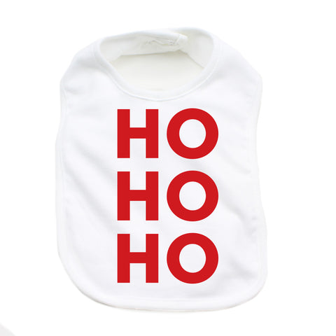 Christmas Ho Ho Ho Soft Cotton Infant Bib