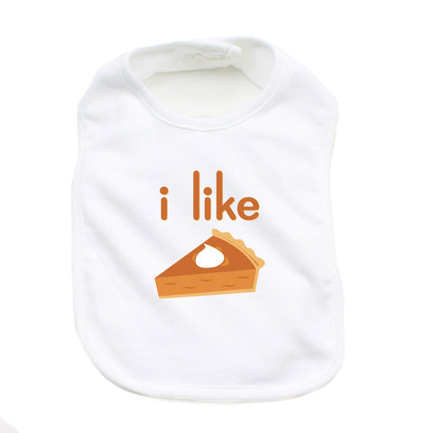 Thanksgiving I Like Pie Soft Cotton Infant Bib