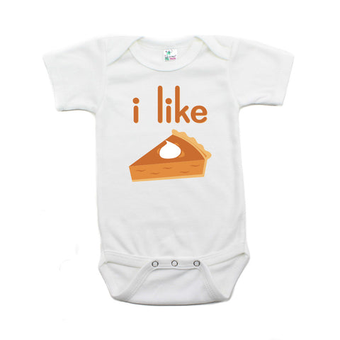 Thanksgiving I Like Pie Short Sleeve Baby Infant Bodysuit