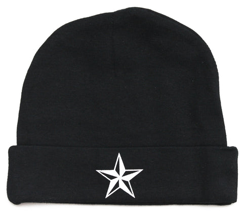 White Star Infant Baby Beanie Cap