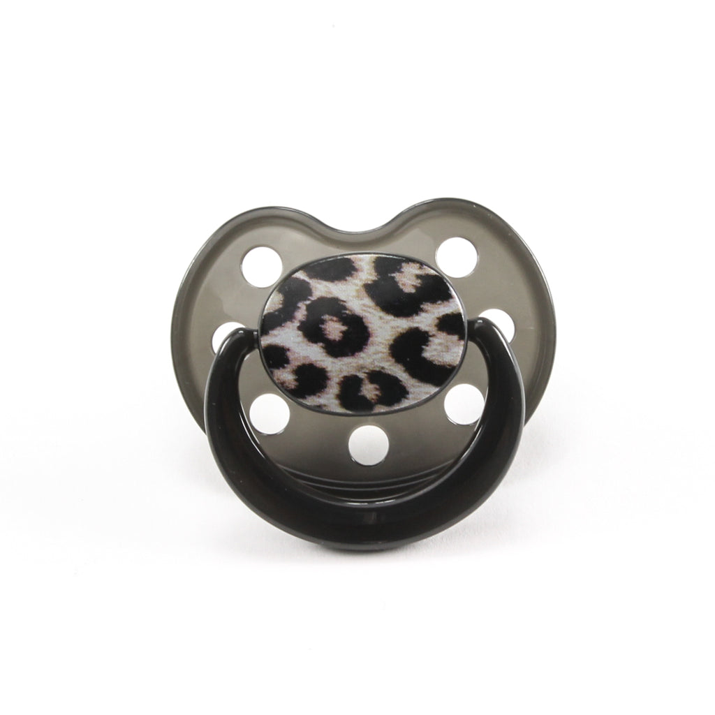 Rock Star Baby Leopard Animal Print Silicone Pacifier Size by Tico Torres