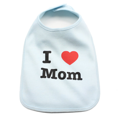 I Heart Love Mom Newborn Baby Soft Cotton Bib
