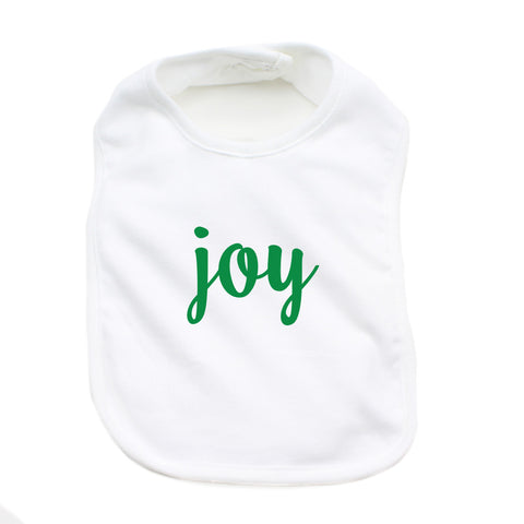 Christmas Joy & Peace Words Short Sleeve Infant Bodysuit