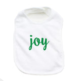 Christmas Peace & Joy Soft Cotton Infant Bib