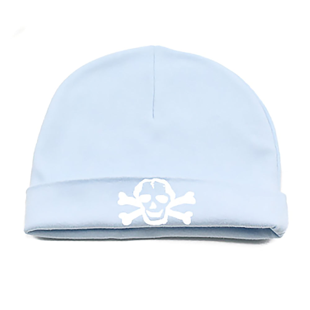 White Scribble Skull Infant Baby Beanie Cap
