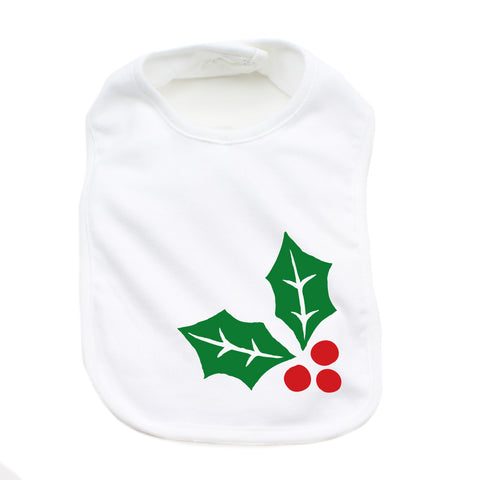 Christmas Mistletoe Soft Cotton Infant Bib